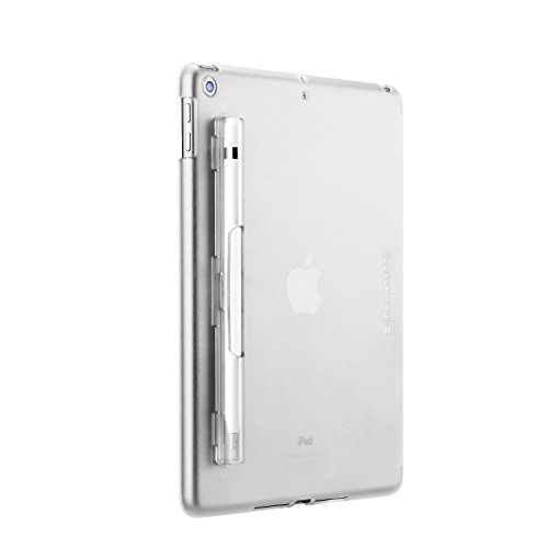 SWITCHEASY iPad 9.7 2018/2017 Case, CoverBuddy Pencil Holder Back Cover, Compatible with Smart Keyboard, Smart Cover and Apple Pencil for Apple iPad Pro 9.7-inch 2018/2017 (Translucent -