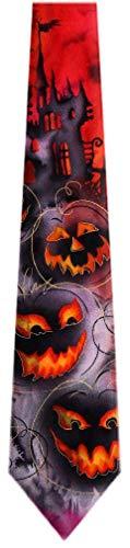 JG-6943 - Jerry Garcia Mens Halloween Scary Masks and Bats Necktie Ties -