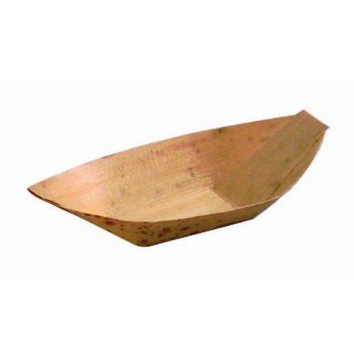 PackNWood 210BJQ8 Bamboo Leaf Boats - 0.5 oz - 3.5 x 1.7 x 0.5'' - 1000 per case by PacknWood