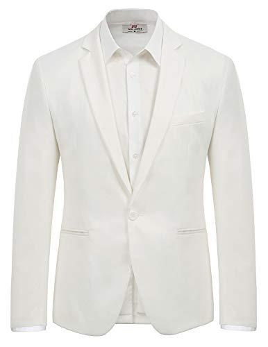 Men's Casual Suit Blazer Jackets One Button Lightweight Sports Coats (2XL, ()