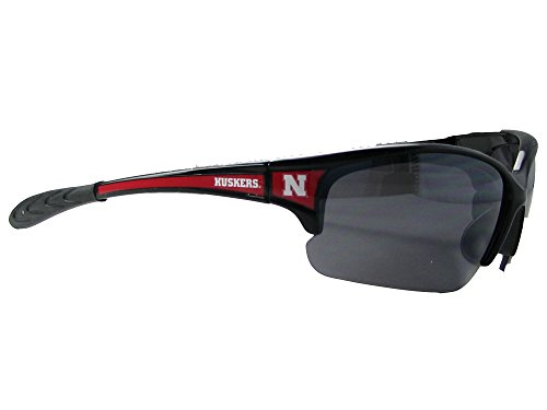 Nebraska Cornhuskers NU Black Red Elite Mens Sunglasses S7JT