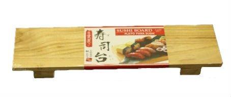 Sushi Display Plate Sushi Board -- Paulownia Tree Wood, Size: 11.75