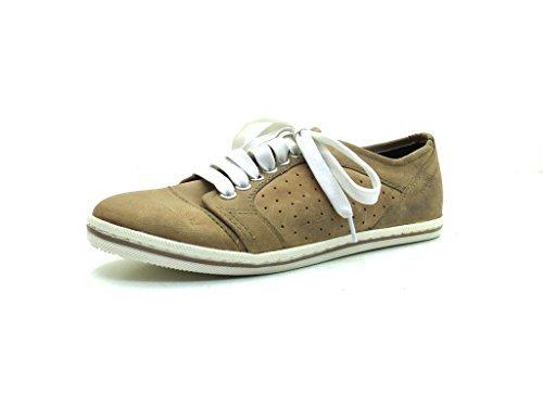 You Know - Zapatillas de cuero para mujer marrón marrón, color marrón, talla 38: Amazon.es: Zapatos y complementos