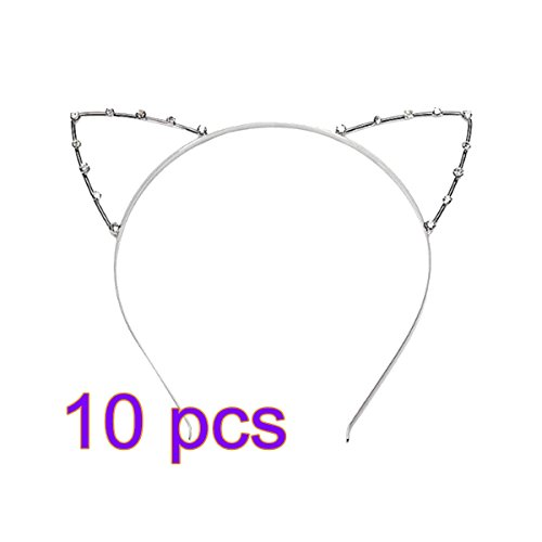 PIXNOR Headband Rhinestone Child Silver