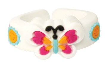 Childrens Butterfly Ring - LDS Childrens Adjustable Silicone Butterfly CTR Choose the Right Ring for Kids