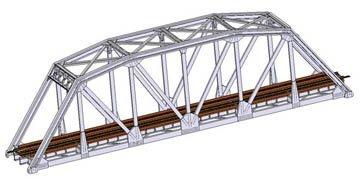 ATLAS MODEL 2571 Code 80 Truss Bridge Silver N