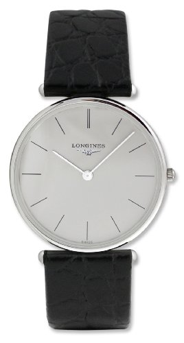 Longines La Grande Classique 18kt White Gold Mens Luxury Strap Watch L4.691.6.72.2 ()