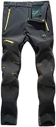 MAGCOMSEN Women's Winter Pants Fleece Lined Water Resistant Hiking Snowboard Ski Pants with Zip Poc