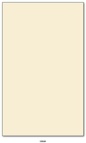Card/Cover Stock 67lb. Size 8.5 X 14 Legal/Menu Size - 250 Per Pack (Cream) ()