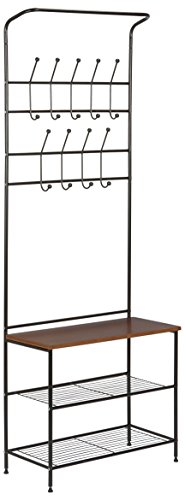 "Honey-Can-Do Entryway Storage Valet, 13.38"" L x 5"" W x 5.25"" H, Black"