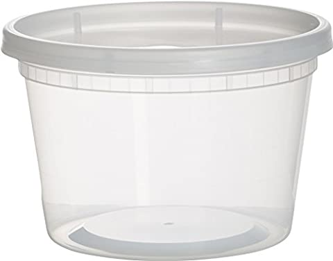 Paksh Novelty Plastic Containers for Lunch / Medium Food Containers with Lids, Leak Proof, Microwavable, Freezer And Dishwasher Safe, 16 Ounce, 36 - 16 Ounce Plastic Containers