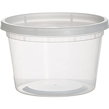 Paksh Novelty Plastic Containers for Lunch / Medium Food Containers with Lids, Leak Proof, Microwavable, Freezer And Dishwasher Safe, 16 Ounce, 36 Pack