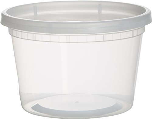 Paksh Novelty Plastic Containers for Lunch / Medium Food Containers with Lids, Leak Proof, Microwavable, Freezer And Dishwasher Safe, 16 Ounce, 36 Pack ()