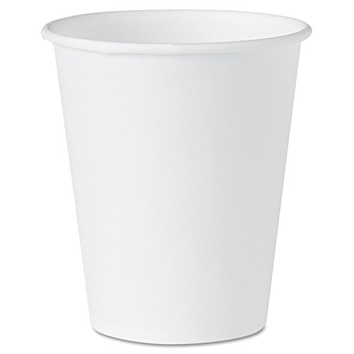 - White Paper Water Cups, 4oz, White, 100/Pack