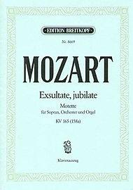 Exsultate, jubilate, Motette F-Dur KV 165, Klavierauszug