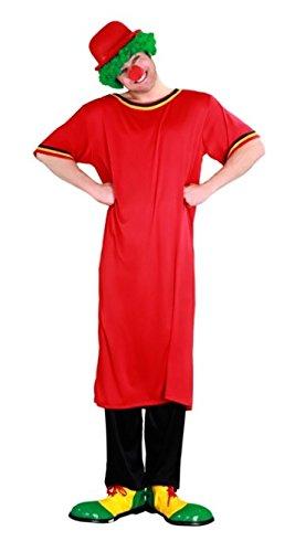 Juguetes Fantasia - Disfraz payaso rojo adulto: Amazon.es ...