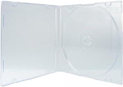 XLayer – Lote de 10 fundas de DVD CD Single transparente mate caja ...