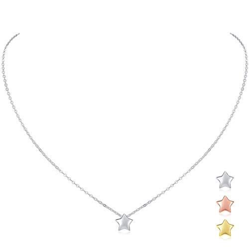 560cdac8fdcc 925 Sterling Silver Mini Star Pendant Necklace for Women Girls