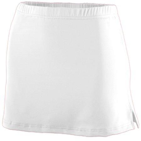 Poly Augusta Spandex (Augusta Sportswear GIRLS' POLY/SPANDEX TEAM SKORT - White 752A L)