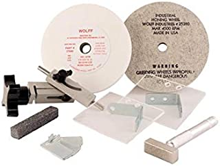 product image for Wolff Twice as Sharp Tune Up Kit Maintain Your Professional Scissor Sharpening Machine with Sharpening and Industrial Wheels, Shear Clamp, T Bar Wheel Dresser, and More
