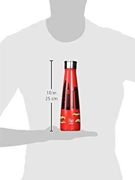 S/'IP by S/'Well Vacuum Insulated Stainless Steel Water Bottle 15oz Big Apple Red Double Wall