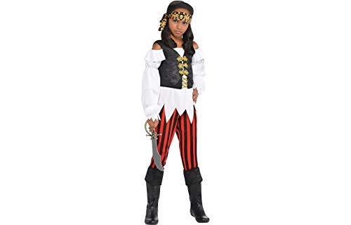 Amscan Pirate Costume | Pretty Scoundrel | Medium (8-10) ()