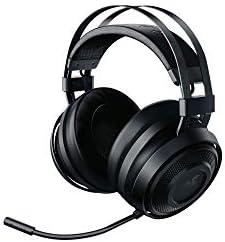 Razer Nari Essential Wireless 7.1 Surround Sound Gaming Headset: THX Spatial Audio - Auto-Adjust Headband & Swivel Cups - Auto-Adjust - Flip Mic - For PC, PS4, PS5 Only - Black