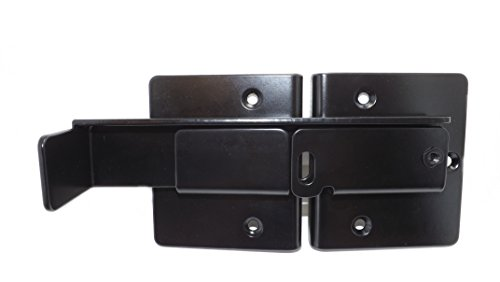 Adjustable Flip Latch for Double Gates (Black Finish) ()