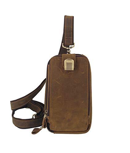 (Men's Genuine Leather Sling Bag Shoulder Crossbody Bags Oversized Wallet & Small Backpack Satchel Purse Casual Daypacks)