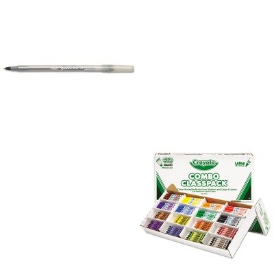 KITBICGSM11BKCYO523348 - Value Kit - Crayola Classpack Crayons w/Markers (CYO523348) and BIC Round Stic Ballpoint Stick Pen (BICGSM11BK) by Crayola