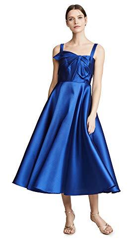 Marchesa Notte Women's Tea Length Gown, Royal, Blue, 6 ()