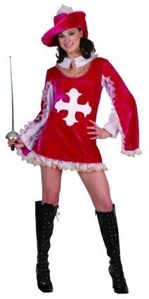 Pink Musketeer Lady Fancy Dress Costume - One Size by Pams (Musketeers Fancy Dress)