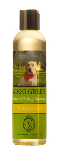 Posh&Co Nikki Green Olive Oil Dog Shampoo with Tea Tree and Lemon Essential Oils, 8-Ounce