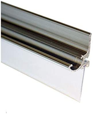 36 in Long Framed Shower Door Snap-in Replacement Drip Rail with Vinyl Sweep