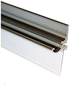 """Chrome Framed Shower Door Replacement Drip Rail with Vinyl Sweep - 32"""" Long"""