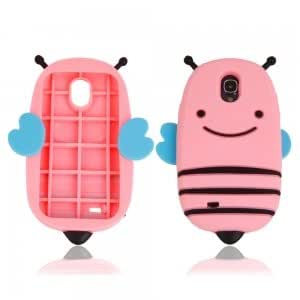 Fashionable Cute Bee Style Silicone Protective Case for Samsung S4 i9500 Pink