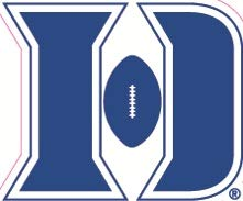 2 Inch Football D Logo Decal Duke University Blue Devils Removable Wall Sticker Art NCAA Home Room Decor 2 1/2 by 2 Inches