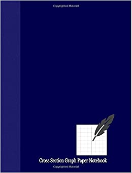 Cross Section Graph Paper Notebook: 1/2 Rule, 1 Inch Cross Section, 100 Pages