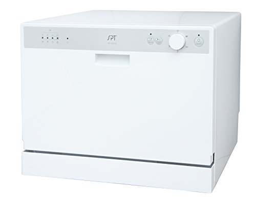 SPT SD-2202W Countertop Dishwasher with Delay Start, White by SPT