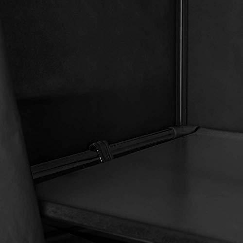PrimeMatik - Armario ropero guardarropa de Tela Desmontable 70 x 45 x 155 cm Negro: Amazon.es: Juguetes y juegos