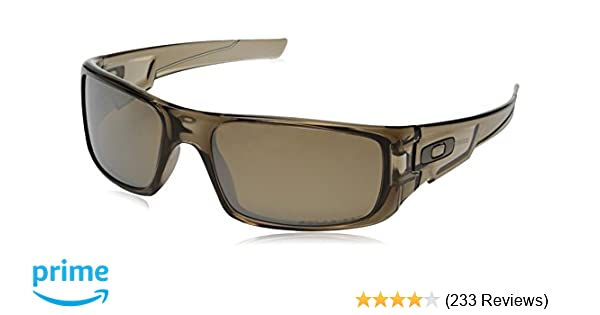 b6111001ab6d8 Amazon.com  Oakley Men s Crankshaft 0OO9239 Polarized Iridium Rectangular  Sunglasses, BROWN SMOKE, 60mm  Oakley  Clothing