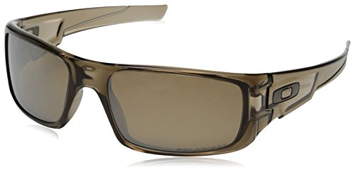 Oakley Men's OO9239 Crankshaft Rectangular Sunglasses, Brown Smoke/Brown Tungsten Iridium Polarized, 60 mm