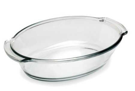 Anchor Hocking 82631L11 4 Quart Crystal Oven Basics Oval Roaster 4 Quart Oval Roaster