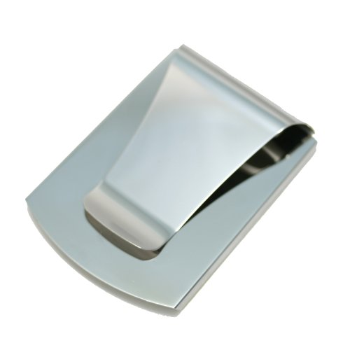 Storus Smart Money Clip-Double Sided Money Clip-Stores Cards On One Sie and Cash On the Other Side-Stainless Steel with Silver Finish-(1 piece per package) PATENTED