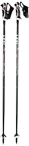 LEKI Erwachsene Skistöcke Speed S Airfoil, Black, Red-White-Anthracite, 125 cm, 6316795125