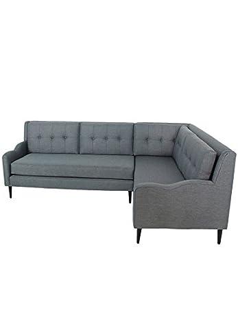 grey midcentury sectional sofa