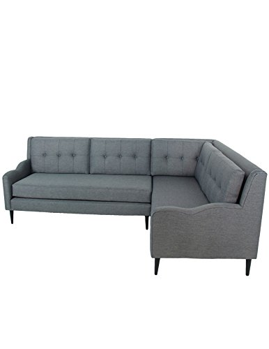 Amazon Com Grey Mid Century Sectional Sofa Kitchen Dining