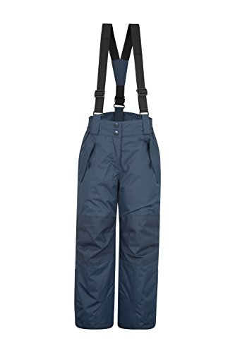 (Mountain Warehouse Honey Kids Snow Pants - Ski Bibs, Suspenders Dark Blue 9-10 Years)