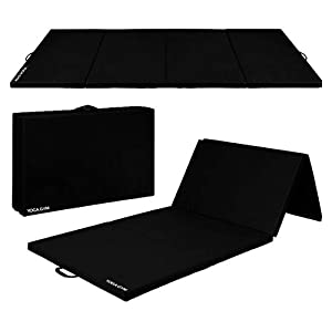Number one Fitness Gym Mat Exercise Gymnastics Training Tumbling High Destiny Foam Foldable 72 x 24x 10mm Foldable Mat…