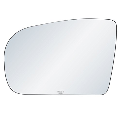 exactafit 8135L Replacement Driver's Left Side Power Mirror Glass Flat Lens fits 2000-2003 Mercedes Benz E320 E430 E55 AMG by Rugged TUFF